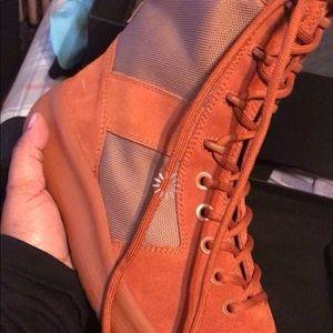 824859a56 Yeezy season 3 orange combat boots men size 7